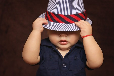 Best Kids and Babies fashion clothes-Baby boy holding both hands on his hat.