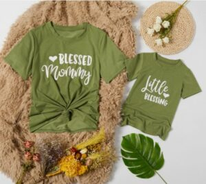 Mother and Daughter matching outfits-Pat Pat matching T-shirts