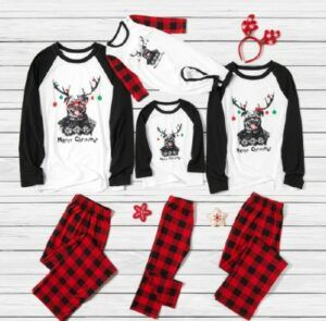 Affordable mother daughter outfits-Matching family Christmas PJ's