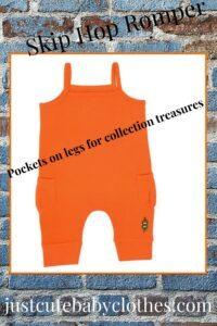 Best baby clothes online? Skip Hop Romper Tangerine
