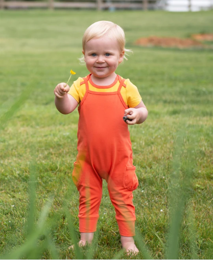Best baby clothes online?-Baby wearing a skip hop romper