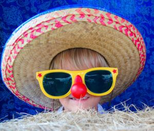 Best infant sunglasses-Girl with XL sunglasses