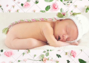 5 Benefits Organic baby clothes have-New born baby sleeping with white head on