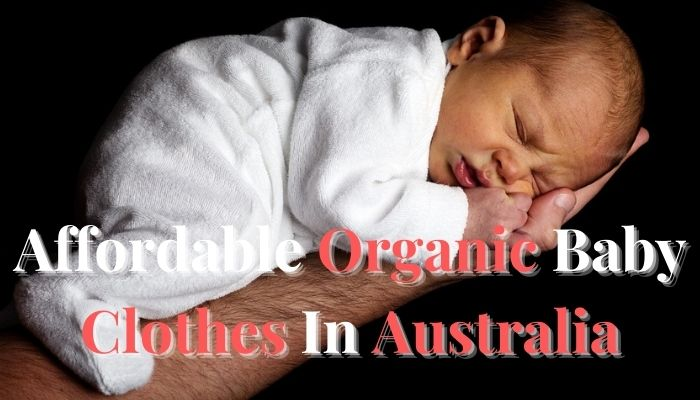 Affordable organic baby clothes in Australia.-Baby sleeping on daddy's arm.