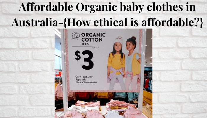 Affordable organic baby clothes in Australia-Sale sign for $3,- Organic baby and kids t-shirts