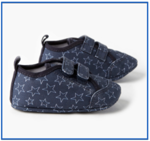 Best shoes for babies' learning how to walk-Nat baby canvas sneaker stars