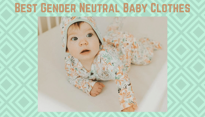 Best gender neutral baby clothing-Baby dressed in unisex baby clothes 'animal kingdom'