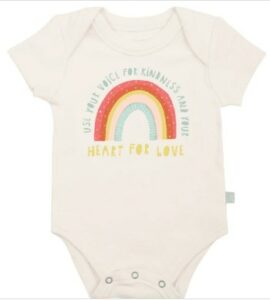 Best newborn Graphic onesie-Organic Onsiee 'Use your voice for kindness and your heart for love'