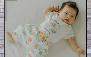 5 benefits organic baby clothes have?-Baby in Finn Emma organic baby clothes outfit.