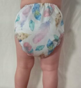 Reusable nappies in Australia-Baby wearing Big Softies reusable nappy-Baby wearing Big Softies Reusable nappy