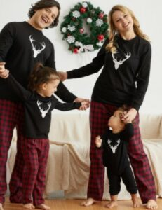 Pat Pat baby clothes-Matching family Christmas PJs