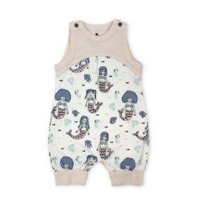 Fair trade organic baby clothing-Fair trade organic cotton mermaid jumpsuit