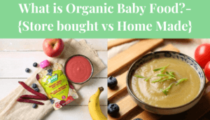 What is Organic Baby Food?-{Store bought vs Home Made}