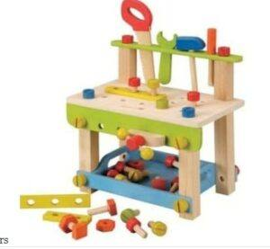 The best toys for babies and toddlers to enjoy safely-Non toxic Large work bench with tools