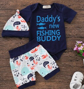 Newborn baby boy clothing set-Baby boy clothing set with graphic onesie