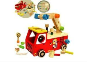 The best toys babies and toddlers can enjoy safely-Non-toxic wooden toy fire truck