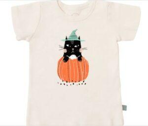 My first Halloween Onesie-Organic Halloween cat T-shirt