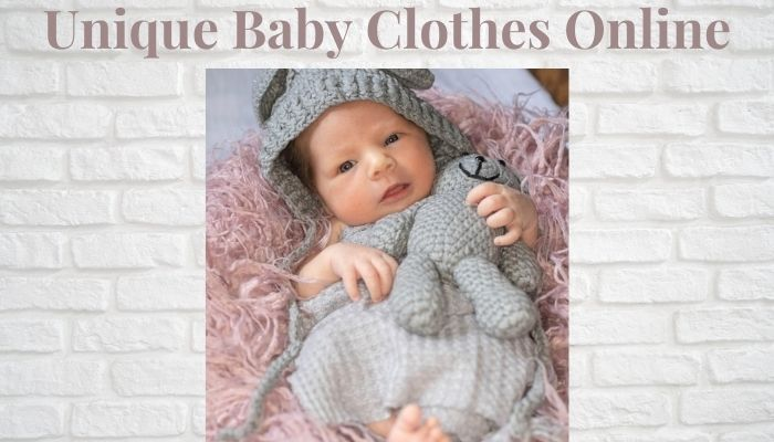 Unique baby clothes online-Baby in cute outfit