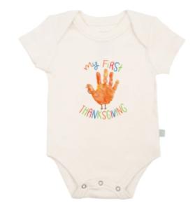 Baby's first Thanksgiving Onesie-Organic cotton Thanksgiving onesie