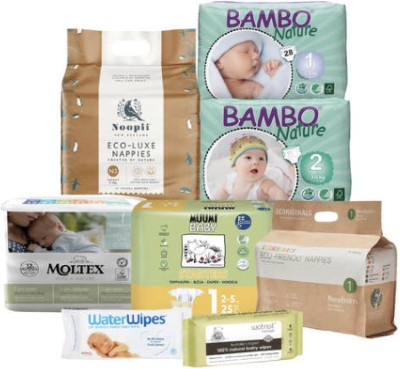 Best eco nappies?-Trial pack of various eco nappy brands.