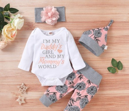 Best Kids and Babies fashion clothes-Co-ordinated baby girl clothing set
