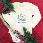 Best Infant onesies for Infants-Organic bodysuit 'Christmas deer'.