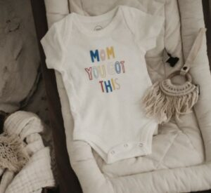 Sustainable fashion trends for babies-Organic bodysuit from Finn+Emma.