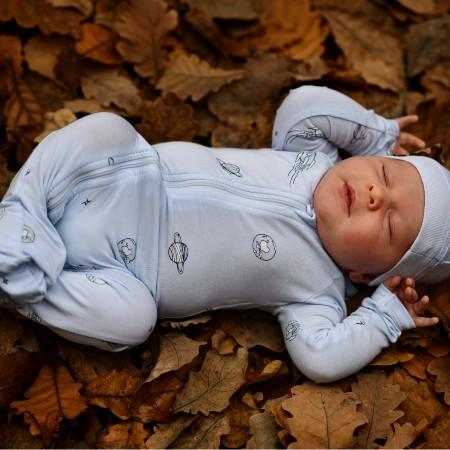 What is Oeko-Tex certified mean?-Newborn wearing Oeko-Tex certified bamboo outfit.