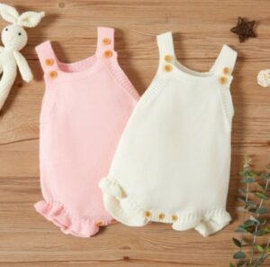 Inexpensive cute baby clothes for girls. sweet baby girl jumpsuits.