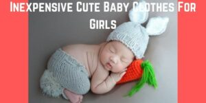 Inexpensive Cute baby clothes for girls-Baby wearing cute bunny clothes outfit.