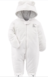 Simple joys carter baby fleece footed jumpsuit pram 'Ivory'.'.