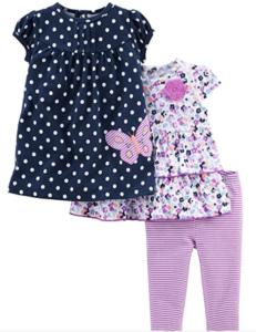 Simple Joys Carter Girls 3 Piece Playwear Set-Simple Joys by Carter's playwear set for girls set #1
