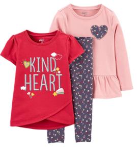 Simple Joys Carters 3 piece playwear sets girls- Simple Joys Girls playwear set #2
