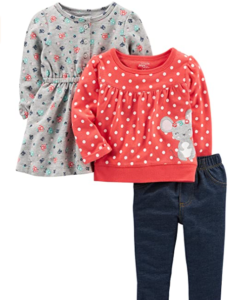 Simple Joys Carter 3 piece playwear sets for girls-Simple Joys playwear set #3