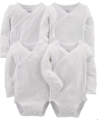 Simple joys carter baby 4 pack side snap bodysuit