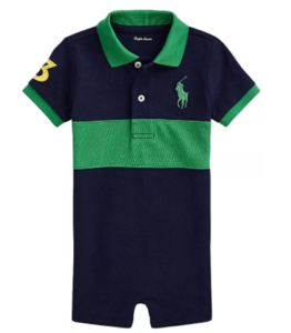 Ralph Lauren baby boy outfits-Polo Ralph Lauren Baby boy big Pony Mesh Polo coverall.