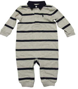 Ralph Lauren Baby Outfits-Ralph Lauren Baby boys Rugby coverall.