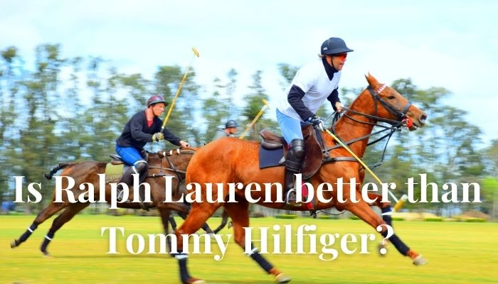 Is Ralph Lauren better than Tommy Hilfiger?-Two man driving horse on grass field during daytime.